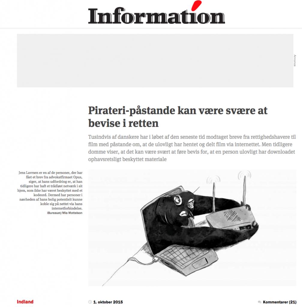 Artikel fra Information.dk.
